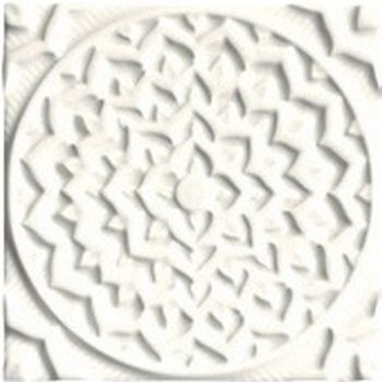 Adex ADEH4001 Earth Relieve Mandala Cosmos Navajo White 15x15