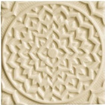 Adex ADEH4005 Earth Relieve Mandala Cosmos Fawn 15x15
