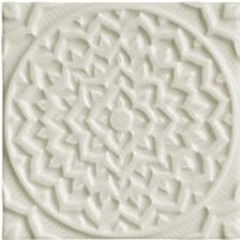 Adex ADEH4013 Earth Relieve Mandala Cosmos Ash Gray 15x15