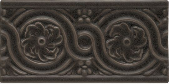 Adex ADNT5059 Relieve Flores Charcoal 7,5x15