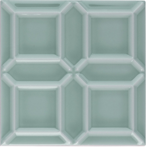 Adex ADNE1114 Liso Edge Sea Green 15x15