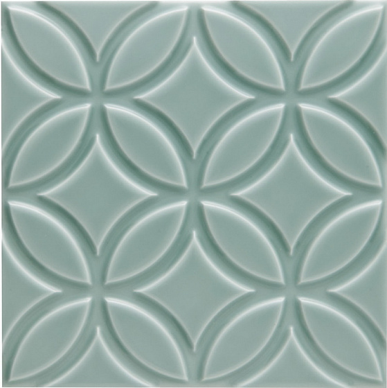 Adex Neri ADNE4147 Liso Botanical Sea Green 15x15