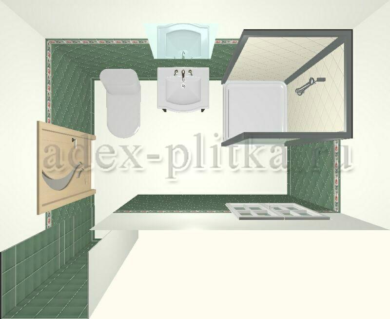 Плитка для ванной с визуализацией